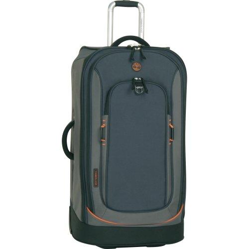 Timberland Luggage Claremont 30-Inch Upright Suitcase, Navy/Black/Burnt Orange, One Size