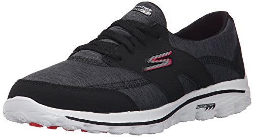 Skechers Performance Women's Go Walk 2 - Backswing Walking Shoe, Black/Hot Pink, 7 M US
