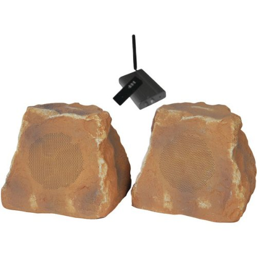 Tic Corporation Wrs010-Cn Outdoor Wireless Rock Speakers (Canyon)