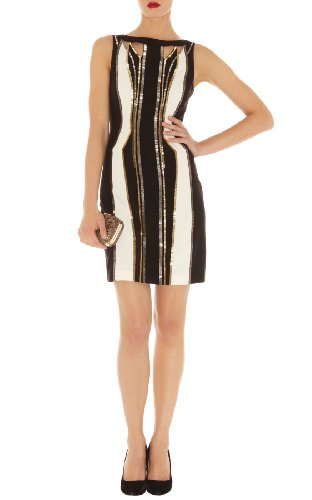 Graphic Deco Beading Dress