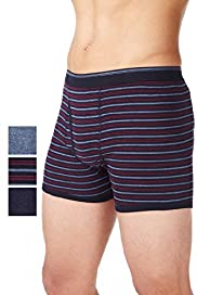 3 Pack Authentic Cool & Fresh™ Pure Cotton Assorted Trunks with Stay New™
