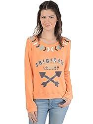 Bonhomie Women Sweatshirts [BONSW12_Peach_Medium]
