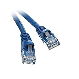 C&E Cat5e Ethernet Patch Cable, Snagless/Molded Boot, 150\', Blue (CNE504693)