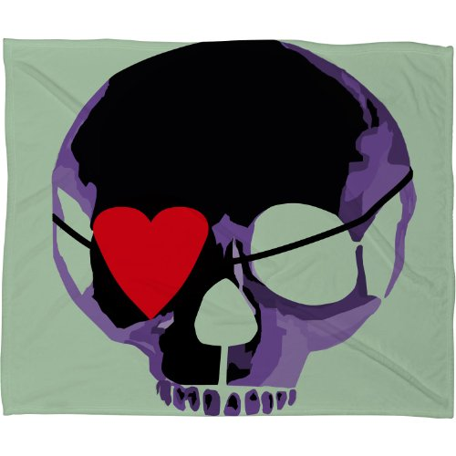Skull Throw Blanket back-1072540