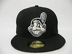 NewEra MLB Cleveland Indians Basic Black White 59fifty Cap New Era 7 3/8