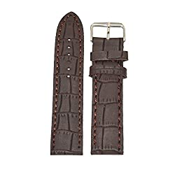 Like 22 mm Leather Watch Strap (Brown)