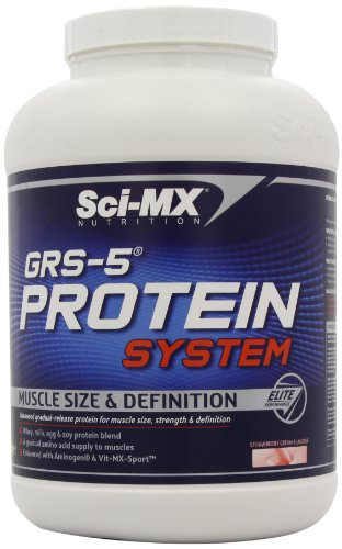 Sci-MX Nutrition GRS-5 Protein System 2280 g Strawberry Muscle Size and Definition Shake Powder