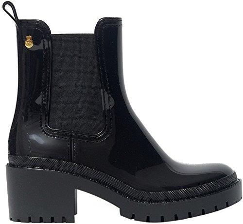 Lemon Jelly Women's Aiko Women's Black Chelsea Boots With Heel In Size 39 Black