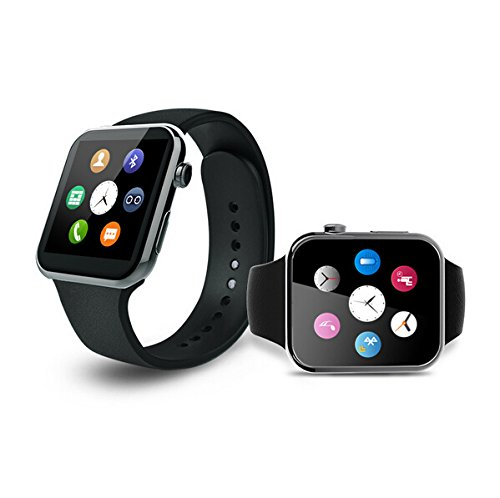 Lincass Bluetooth Smartwatch for Iphone and Android Heart Rate Monitor smart watches IP67 waterproof for Android IOS (Black)