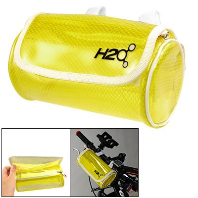 Como Soft Plastic Clear Yellow Front Handlebar Bag for Bike