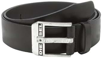 Diesel - Ceinture ceinture non ajustable - 85 cm - Noire - Homme