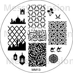 Messy Mansion Mm13 Nail Art Stamping Plate Arabian Themed
