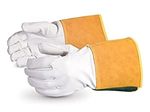 Superior 370CTIG Precision Arc Goatskin Leather TIG Welder Glove, Work, X-Large (Pack of 1 Dozen) from Superior Glove Works Ltd