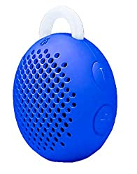 iBall Musiegg BT5 Portable Bluetooth Speaker With built-in Mic and Rechargable Battery - Water Resistant & Light Weight - Dark Blue