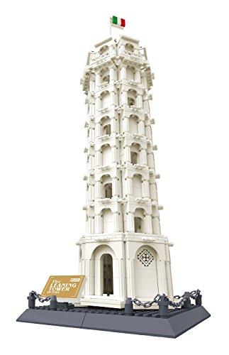 Wange-積木-ピサの斜塔-DIY ブロック おもちゃ-子供へのプレゼント-8012