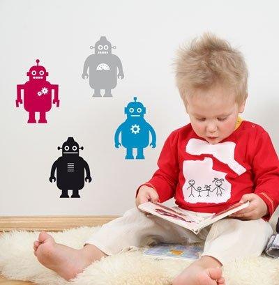 Robots Wall Decor Stickers