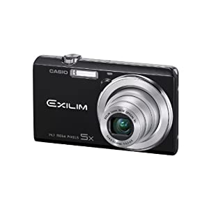 Casio Exilim EX-ZS10 Black 14 MP Stylish and Slim Digital Camera with 5x Wide-Angle Zoom and 720p HD Video Capture