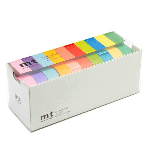 カモ井加工紙 mt 10色セット(明るい色2) 15mm幅×10m巻き MT10P0003
