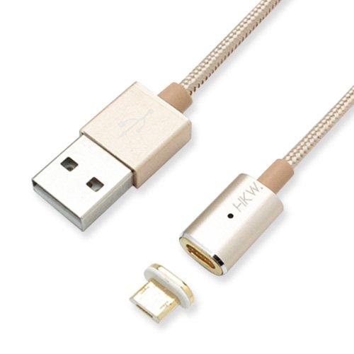 HKW マグネット式充電ケーブルセット マイクロUSB用 メタルゴールド H...