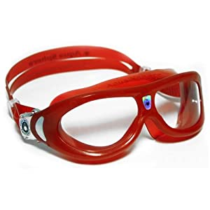 Aqua Sphere Seal Kid Swim Goggle (Red, Clear Lens)