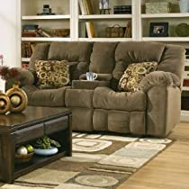 Big Sale Macie Brown Contemporary Reclinining Loveseat with Power