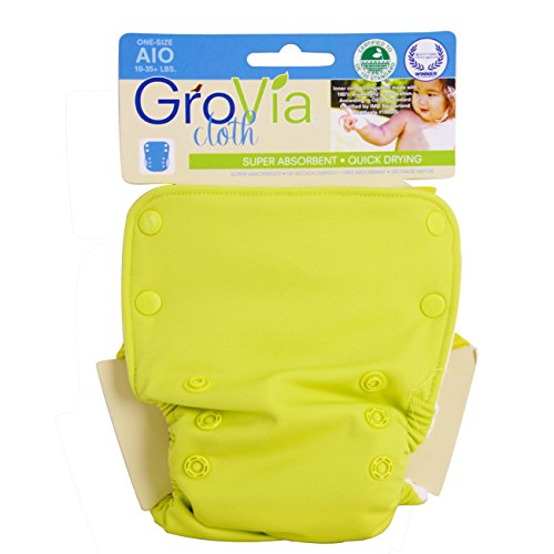 GroVia All in One Cloth Diaper - Snap - Citrus - One Size