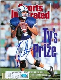 Autographed Ty Detmer Sports Illustrated Magazine