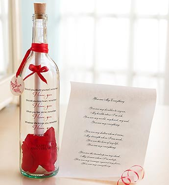 1-800-Flowers - Personalized Message In A Bottle Anniversary - You Are My... front-848834