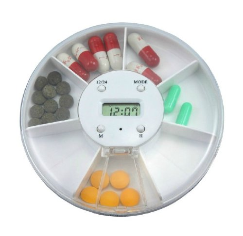 Electronic Timer 7 Days Pill Case Box Organizer With Led Clock Alarm Daily Medication Manager Helper Reminder