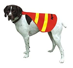 Remington Safety Vests for Dogs, Orange/Yellow, Small