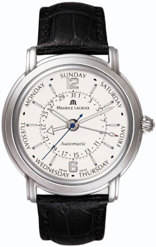 Maurice Lacroix Masterpiece Calendrier Retrograde Stainless Steel Mens Watch - MP7068-SS001-390