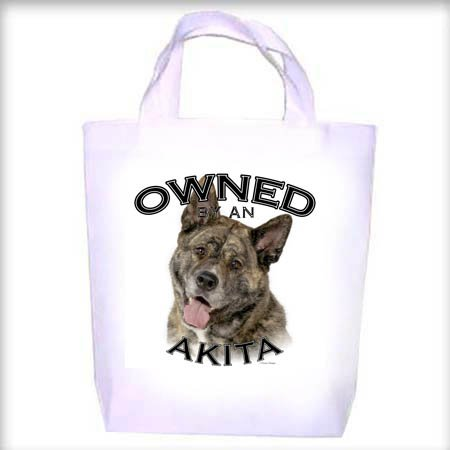 Akita BRINDLE Owned Shopping - Dog Toy - Tote Bag