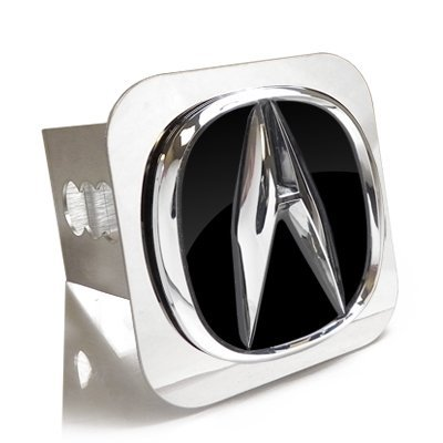 Acura OEM Style 3D Chrome Logo Tow Hitch Cover Plug