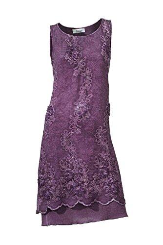 Linea Tesini Damen-Kleid Kleid Violett Größe 34
