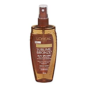 L'Oreal Paris Sublime Bronze Clear Self-Tanning Gel, 5.0 Ounce