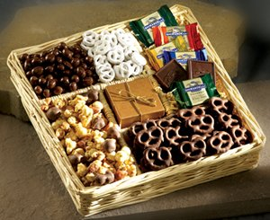 Deluxe Dark and Milk Chocolate Gift Basket