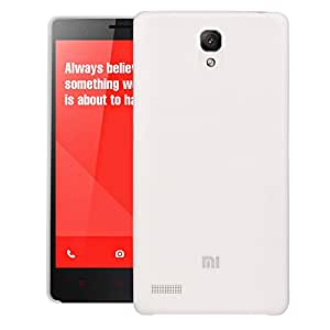 Redmi Note Prime Back Cover, Thin Fit Frosted Case Back Cover for Xiaomi Redmi Note Prime (White) - By Translucent