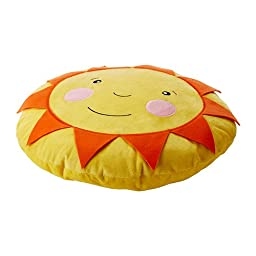 Ikea Soligt Cushion Pillow Yellow Orange Smiling Sunshine Accent Kids Children Toy Throw