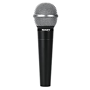 Nady SP-9 Kit Dynamic Cardioid Vocal and Instrument Handheld Microphone w/ XLR 20-Foot Cable & Microphone Clip Bundle