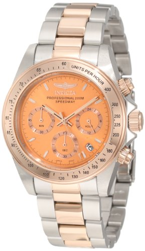 Invicta Ladies Speedway Chronograph Watch 6933 with Rose Gold Dial