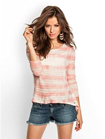 Amazon.com: GUESS Kimmie Abstract-Dye High-Low Top: Clothing