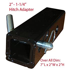 "2"" To 1-1/4"" Hitch Receiver Adapter"