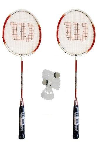 2 x Wilson Zone Badminton Rackets + 3 Shuttles RRP £50