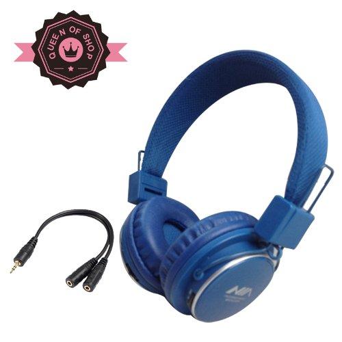 Mrh8809 Deep Blue Tf Card Fm Radio Monitor Portable Audio Cotton Fabric Beam New Fashion Brand Music Player Wireless Handsfree Headset Headphones Earphone Fm Sport Mp3 Music Player Colorful