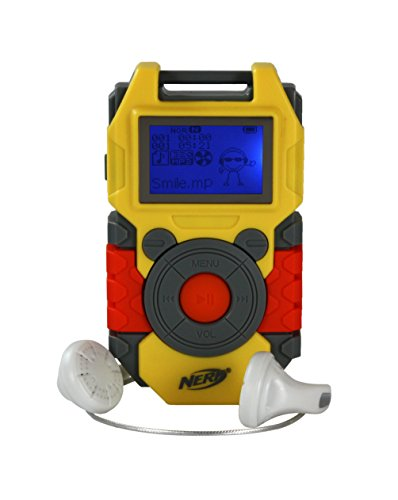 nerf 2gb digital mp3 player yellow orange 50056 mp3 players for kids top flash and mp3. Black Bedroom Furniture Sets. Home Design Ideas