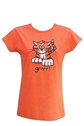 Womens Orange tiger T.shirt