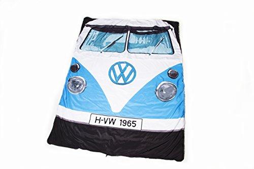 1965-type-vw-camper-van-officiel-bleu-sac-de-couchage-et-blanket-camping-festival