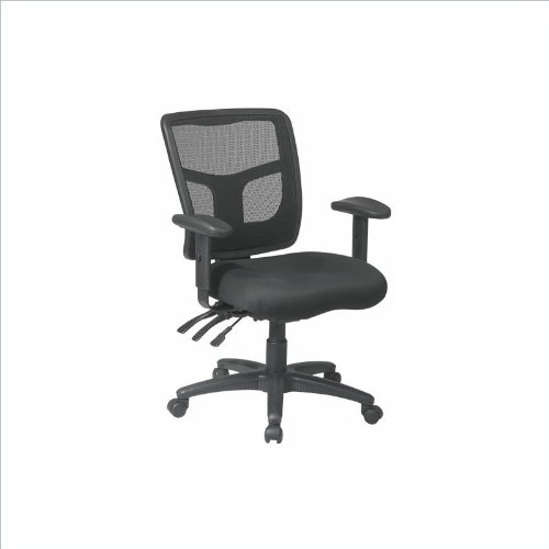 Office Star ProGrid Back Managers Chair with 2-Way Adjustable Arms and Dual Function Control