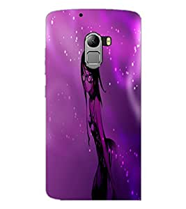PrintDhaba Stylish Girl D-4008 Back Case Cover for LENOVO K4 NOTE A7010 (Multi-Coloured)