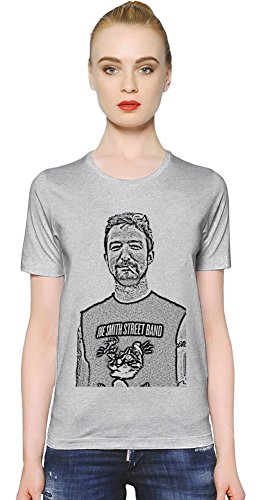 Frank Turner Illustration T-shirt donna Women T-Shirt Girl Ladies Stylish Fashion Fit Custom Apparel By Genuine Fan Merchandise Large